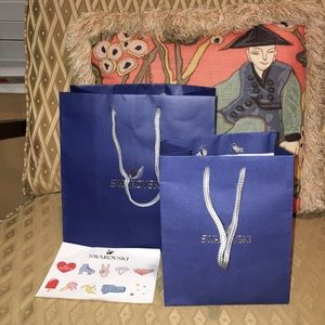 Swarovski shopping bags (2) includes stickers